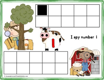 I Spy Down on the Farm Counting Mats 1 to 20