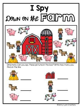 I Spy: Down on the Farm Freebie