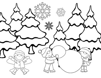 I Spy EARLY Sight Words ~Winter Edition~