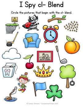 I Spy Find the Picture - Blends and Digraphs {Differentiated Phonics Activities}