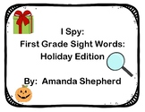 I Spy First Grade Sight Words Holiday Pack