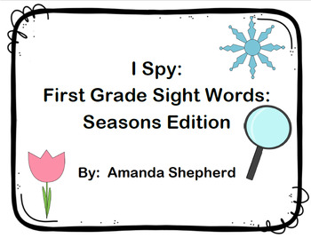 I Spy First Grade Sight Words Season Pack