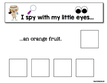 I Spy - Fruits and Veggies {an Adapted Book Series for Children with Autism}