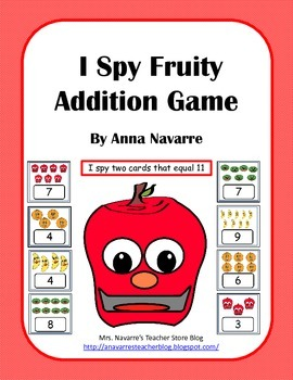 I Spy Fruity Addition Game
