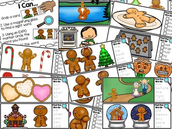 I Spy Fry Sight Words - Gingerbread Version
