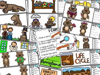 I Spy Fry Sight Words - Groundhog's Day Version