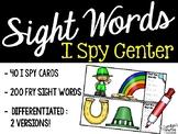 I Spy Fry Sight Words - St. Patrick's Day Version