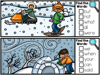 I Spy Fry Sight Words - Winter Version