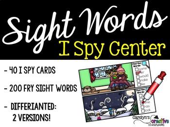 I Spy Fry Sight Words - Winter Version