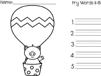 I Spy Fry Words 1-100