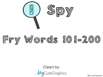 I Spy Fry Words 101-200