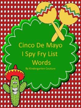 I See Tiny Fry Words - (English) Cinco de Mayo