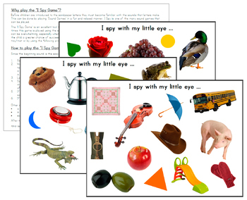 I Spy Game - Printable Pages
