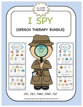 I Spy Games {Speech Therapy Bundle} S, Z, SH, CH, J