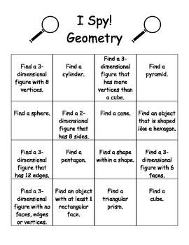 I Spy! Geometry