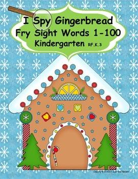 I Spy Gingerbread Sight Words