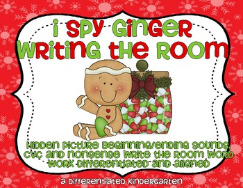 I Spy Gingie Writing The Room-Differentiated and Aligned Word Work