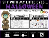 I Spy HALLOWEEN Hidden Picture Puzzle - Read, Trace, Find