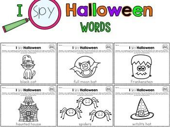 I Spy - Halloween Words