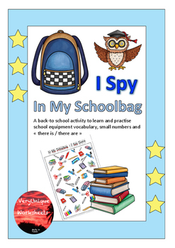 I Spy - In My Schoolbag