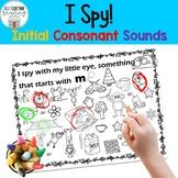 I-Spy Initial Consonant Sounds: A Fun No-Prep Activity!