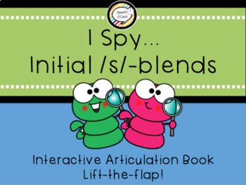 I Spy... Initial /s/-blends Interactive Book