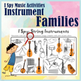 Instrument Families I Spy Music Activities    Print and Digital