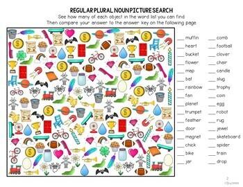 I Spot Irregular Plural Nouns Picture Search