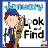 Look and Find January Edition (January Themed Words & Sigh