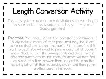 I Spy Length Conversions