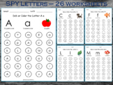 I Spy Letter Printable – Uppercase and Lowercase, Dab or C