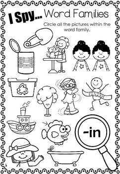 I Spy... Word Families