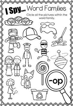 I Spy... Word Families