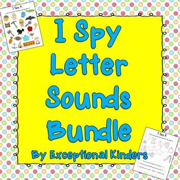 I Spy Find the Picture Letter Sounds Bundle {Differentiated Phonics Activities}