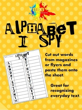 I Spy-Letter/Word Magazine Hunt Worksheet