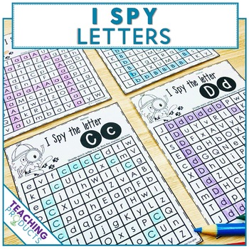 I Spy Letters - A letter search activity