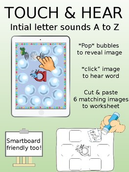 I Spy Letters A to Z - activity for ipads and whiteboards - FREE SAMPLE