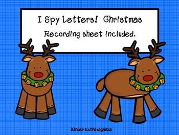 I Spy Letters!  Christmas