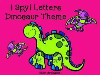 I Spy Letters! Dinosaur Theme