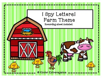 I Spy Letters!  Farm Theme