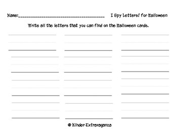 I Spy Letters!  Halloween