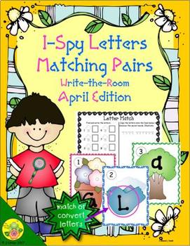 I-Spy Letters Matching Pairs (April Edition)