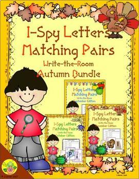 I-Spy Letters Matching Pairs Autumn Bundle