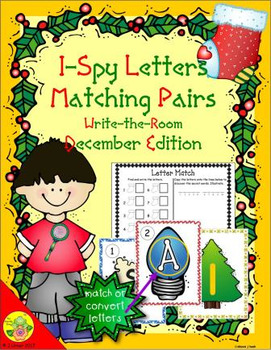 I-Spy Letters Matching Pairs (December Edition)