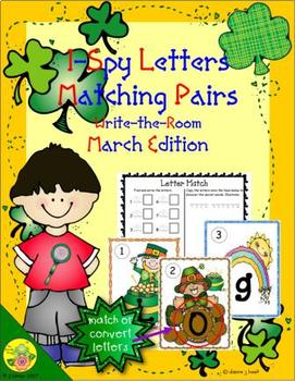 I-Spy Letters Matching Pairs (March Edition)