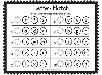 I-Spy Letters Matching Pairs (November Edition)