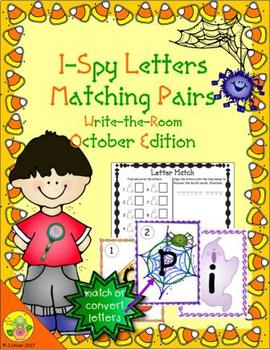 I-Spy Letters Matching Pairs (October Edition)