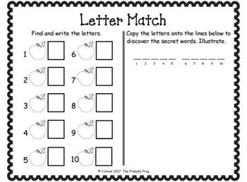 I-Spy Letters Matching Pairs (September Edition)