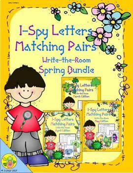 I-Spy Letters Matching Pairs Spring Bundle