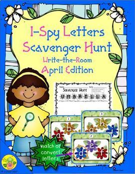 I-Spy Letters Scavenger Hunt - Color by Code (April Edition)